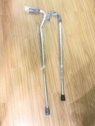 アルミニウム松葉ずえによってパッドを入れられる脇の下の歩く杖