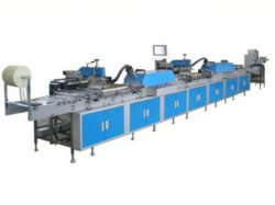 Автоматический полный рулон ткани метки ремня машины трафаретной печати