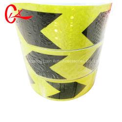 Arábia Saudita PVC Segurança Fita Refletora seta preta amarelo de advertência