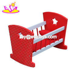 Nieuwe heetste Rode Houten Baby Doll Crib Set voor Doll W06b058