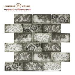 Deckt Glasmosaik-Fliesen der Fliese-Fußboden-Fliese-3D für Küche-Rückseiten-Spritzen-Badezimmer Mosaico Nero Keramik-Mosaik mit Ziegeln