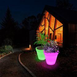 Imperméable décoratifs 16 LED de couleur de lumière Pot de fleurs de jardin