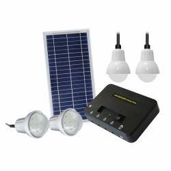 Jeu complet DC hors réseau Solar Home Kits de panneau d'énergie de l'éclairage de l'alimentation batterie du système mini Camping Station portable
