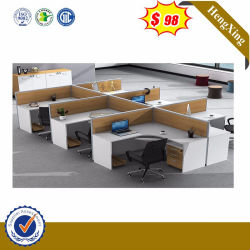 モダンなデザインの 3 人用ワークステーションシートオプションのオフィスキュービクル スタッフ用( HX-8NE1084 )