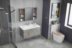 Graue Farbe Badmöbel mit Mirro-Schrank und Keramik-Becken