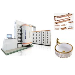 공장에서 직접 판매 세라믹 알루미늄 탈륨 진공 PVD 코팅 머신 라인 골드 플레이팅 기계