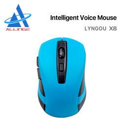 Lyngou LG148 barato por grosso 2.4G Computador óptico Wireless Voice Mouse Support 28+ Idioma para o computador portátil Mac Windows