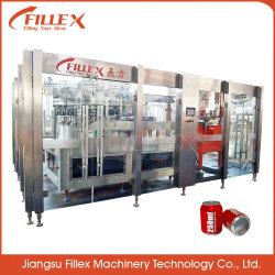 Mascota de Gas de latas de aluminio para bebidas de máquina de llenado de agua fácil de operar la línea de producción automática de 2 a 1 Modelo de tipo rotativo