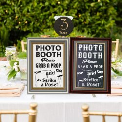 "Casamento, festa ou evento 16"" L X 12"" W 2-sided Photo Booth sinal"