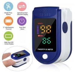 Dedo pulsioxímetro de oxígeno en sangre y mediciones de medidor de pulso OXIMETRIA