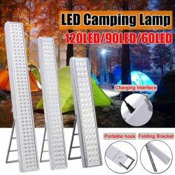 60/90/120LED lampe LED portable Camping Camping lumière rechargeable de l'éclairage Mettez en surbrillance 110-240V tente lampe avec fonction d'urgence