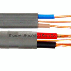 Zwilling-und Massen-flexible steife elektrische Kurbelgehäuse-Belüftung Isolierinländische verzieren Verkabelungs-Flachkupfer-elektrisches Drahtseil