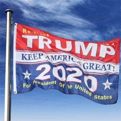 Venda por grosso de fábrica grande Presidente Trump tornar a América grande novamente 3X5FT pavilhões Banners