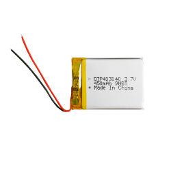 بطارية ليثيوم أيون 403040 بقوة 3.7 فولت 450 مللي أمبير/ساعة، كاميرا/Bluetooth/E-Shaver/E-Razor/GPS/Digital/Portable Devices بطارية قابلة لإعادة الشحن