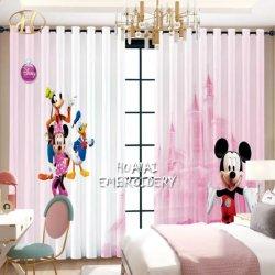 Karikatur konzipiert Digital gedruckte Polyester-Stromausfall-Gewebe-Schlafzimmer-Fenster-Vorhänge für Kind-Raum
