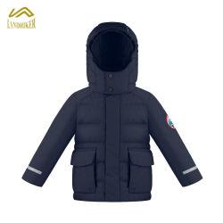 Puffer veste chaude pour les enfants Quilting enfants Hiver Hoodie enduire