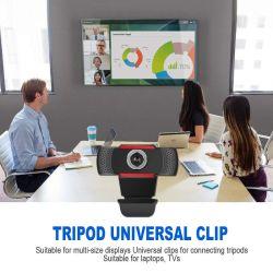 D 1080P веб-камеры 2K компьютер PC веб-камера с микрофоном для прямой трансляции видео конференции Webcamara вызовов