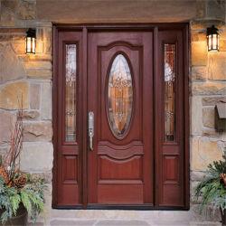 정면 출입구 문 입구 나무로 되는 문 홈 입구 문
