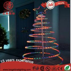 Licht van de Kerstboom van de Kabel van LEIDEN pvc van de Flits het Veelkleurige Spiraalvormige voor de Decoratie van de Vakantie