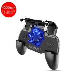 Machtspiel-Griff-tireur-Triggerkühlventilator-beweglicher Spiel Pubg Controller des Sr-4000mAh beweglicher für iPhone und Android