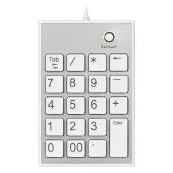 Numpad Zahl Auflage verdrahteter numerischer Schlüsseltastaturblock der USB-Naben-19