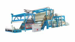 Lona de PVC de 5,5 m, 4 capas de tejido laminado laminado máquina con el servicio de Life-Long