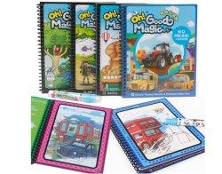 Personnalise les divers types d'enfants du canevas de l'Aquarelle Livres d'images réutilisables et livres d'images