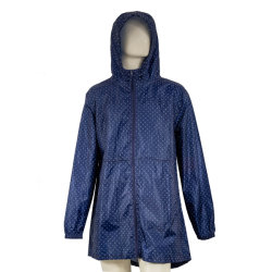 Todo Imprimir elegante largo abrigo impermeable