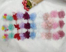 La moda chiffon flor artificial accesorios de fresado de encaje