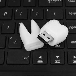 Настраиваемый логотип рекламных подарков стоматологическая клиника карту памяти Memory Stick стоматолог форма зубьев флэш-накопитель USB 8 ГБ