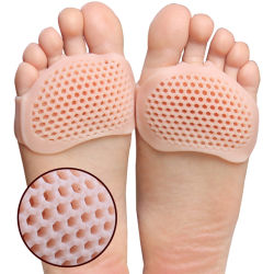 BPAは新しいシリコーンの靴のアクセサリの靴の中敷のハイヒールの通気性の反滑り易いフィートの苦痛のForefootの靴のパッドを放す
