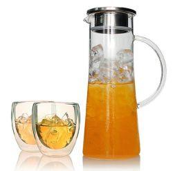 1500ml de de hoge Thee van het Water van de Theepot van het Glas Borosilicate/Pot van de Koffie