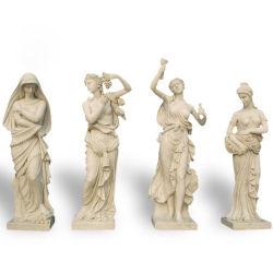 Grand marbre sculpté Jardin de sculptures grecques humaine pour l'extérieur
