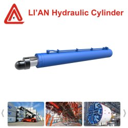 30MPa 2000mm Cilinder van de Olie van de Slag de Telescopische Hydraulische met de Gesmede Zuigerstang van het Staal