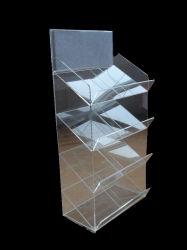 Acrílico transparente de alta calidad personalizado caída de la pantalla Pantalla zapata delantera