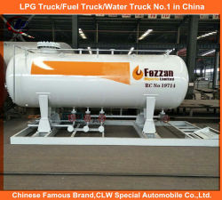 5m3 LPGの満ちるプラント、20m3のナイジェリアのための二重ノズルディスペンサーが付いている40m3 LPGのスキッド端末LPGの給油所