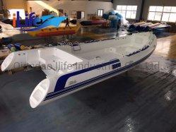 O Ilife (CE) 22FT 6.8M 16 pessoas casco de fibra de vidro costela Lancha barco de pesca iate de luxo