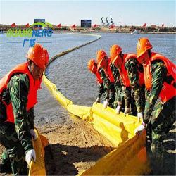PVC Soild plat d'huile de flèche, de caoutchouc gonflable boom pétrolier en mer