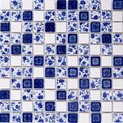 Kleines Chip glasig-glänzende keramische Mosaik-Fliese-Blumen sortieren vorzüglich gelassen
