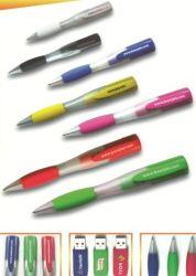 ذاكرة فلاش سعة 4 جيجابايت على شكل قلم بلاستيكي USB 2.0 سعة تخزين عالية السرعة