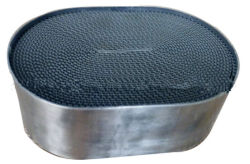 نظام عادم السيارة محفز محول الحفاز المعدني من Honeycomb
