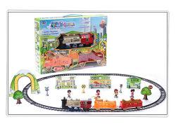 Het Vastgestelde Stuk speelgoed van de Trein van de Spoorweg van het Stuk speelgoed B/O van het kind met Licht (H0143237)