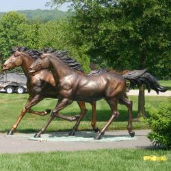 تماثيل الخيول البرونزية تزيين الحيوانات النحت