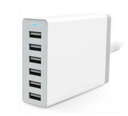 Powerport 6 50With10A 6-haven USB de Hub van de Lader voor het Universele Slimme Laden van iPhone iPad Samsung