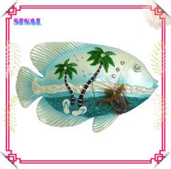 Мода на стене висел искусства, Polyresin Pearlized рыб и оформление