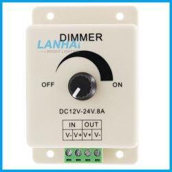 12-24V 8A LED manueller drehender dunklerer Schalter-einzelner Farben-Controller