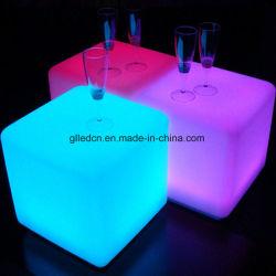 Würfel-Stuhl des RGB-Plastikstab-Schemel-LED für Partei-Ereignis-Hochzeits-Möbel-Miete