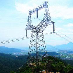 10kv-1100KV Transmission de puissance électrique de l'angle métallique en acier galvanisé tour Latticed