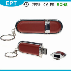 OEM de Aandrijving van de Flits van het Leer USB van de Hoogste Kwaliteit van het Embleem (EB076)