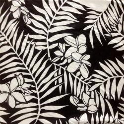 Impresso Habotai seda em grandes folhas padrão
